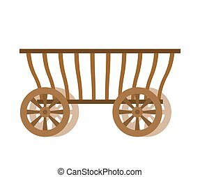 Wagon wood. Old farm transport. Ancient cargo carriage