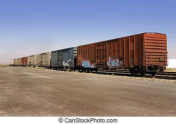 wagons, öreg, falfirkálás