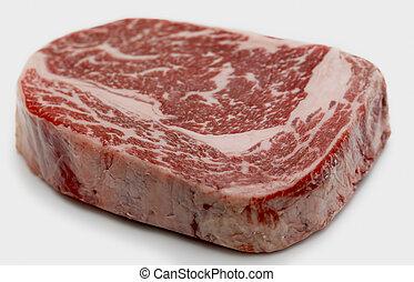 wagyu, ribeye, biefstuk, rauwe
