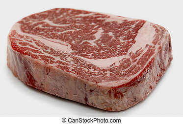 Wagyu ribeye steak raw