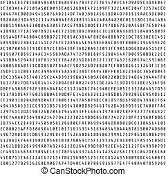 wahlfrei, hexadecimal, code, stream., abstrakt, digital,...