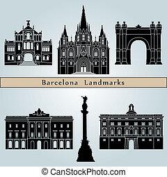 wahrzeichen, barcelona, denkmäler