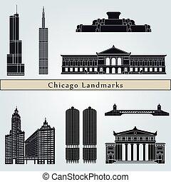 wahrzeichen, chicago, denkmäler