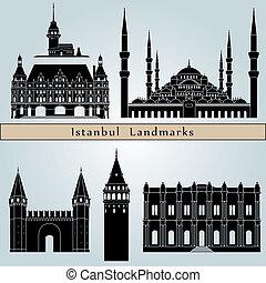 wahrzeichen, istanbul, denkmäler