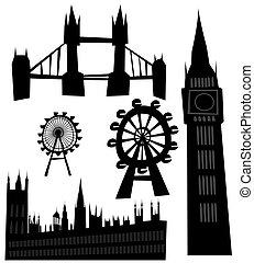 wahrzeichen, vektor, london