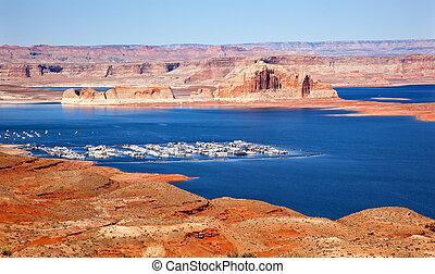 Wahweap Bay Wahweap Marina Castle Rock Lake Powell Glen Canyon Recreation Area Arizona