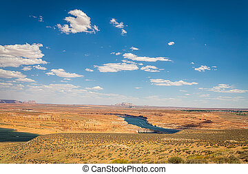 The Wahweap Overlook provides views of Lake Powell near Page, Arizona and into southern Utah.