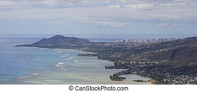Waialae and Waikiki panoramic