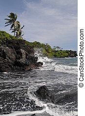 waianapanapa estatal parque, hawai