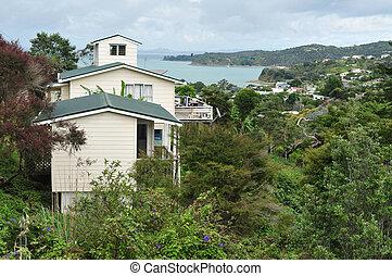 Waiheke Island New Zealand - WAIHEKE, NZ - FEB 17:View of...