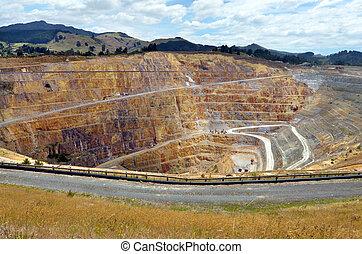 Waihi gold mine town - New Zealand