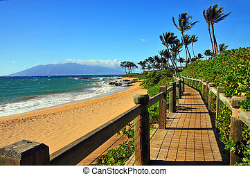 Wailea Beach Pathway, Maui, Hawaii - The Beautiful Wailea...