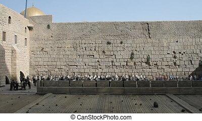 Wailing wall - Wailing Wall in Mini Israel. Model.
