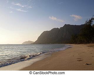 Waimanalo Beach in the early morning
