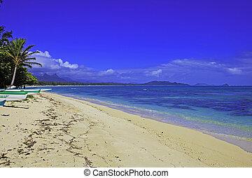 waimanalo, bucht, oahu, hawaii