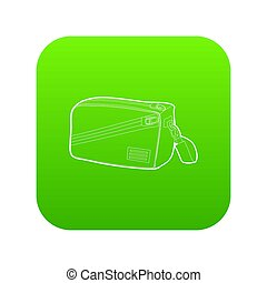 Waist bag icon green