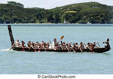 waitangi, jour, et, festival, -, nouvelle zélande, jour...