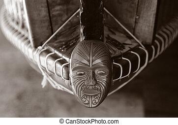 Waitangi Treaty Grounds - WAITANGI - JAN 07: Wood curving ...
