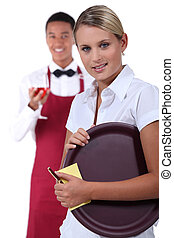waiter and waitress