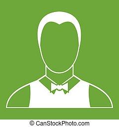 Waiter icon green
