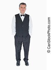 Waiter in uniform - Waiter standing in uniform