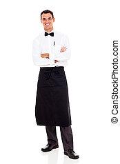 waiter studio portrait