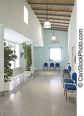 Waiting area and surgery rooms at medical center