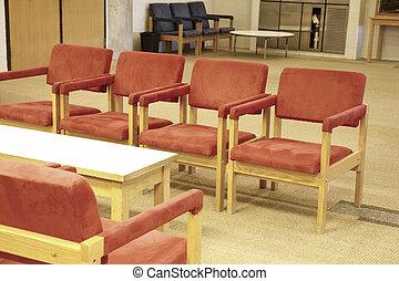 Waiting area indoors