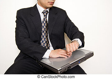 Waiting businessman