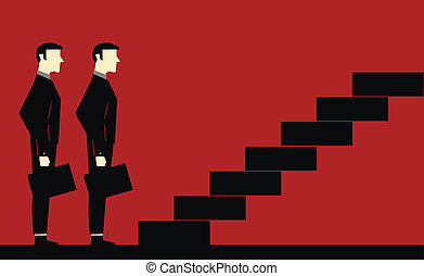 Waiting Businessman Stair