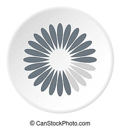 Waiting download icon circle