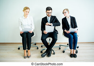 Waiting for a job interview