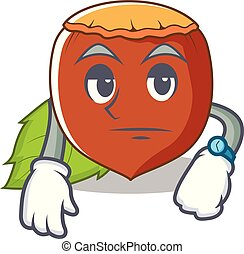 Waiting hazelnut mascot cartoon style