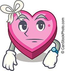 Waiting heart box in the cartoon sleep