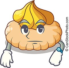 Waiting ice cream biscuit on wafers cartoon