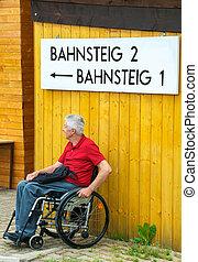 Waiting in a Wheelchair