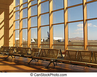 waiting lounge in an airport