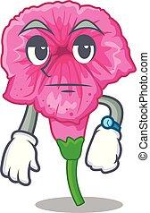 Waiting petunia in a mascot flower basket