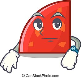 Waiting quadrant mascot cartoon style vector illustration