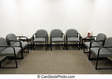 Waiting Room - a ordinary waiting room with gray chairs
