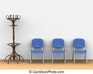 Waiting room - digital render of a waiting room with a...