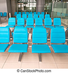 Waiting room - Empty seats in waiting room of Suvarnabhumi...