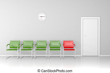 Waiting room - In the waiting room. Who is next?