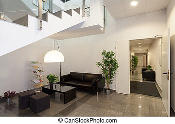 Waiting room or reception in office interior