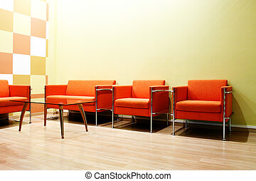 Waiting room - Moderm interior of a waiting room
