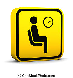 Waiting Room Sign - Waiting room sign on a white background...