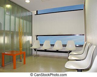 waiting room - Waiting room in a modern hospital