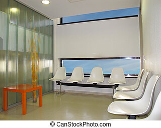 waiting room - Waiting room in a modern hospital