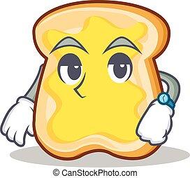 Waiting slice bread cartoon character vector art...