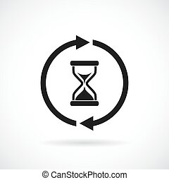 Waiting time vector icon